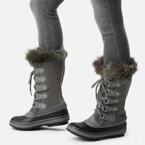 Sorel Women's Gray Joan of Arctic Winter Boots Size 8 Photo