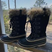 Sorel Womens Joan of Arctic Boots Size 8. Black Suede Upper Waterproof. Photo