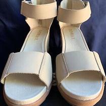 Sorel Womens Joanie Sandal Ii Wedge Fashion Casual-Oatmeal Size 9.5 Photo