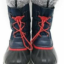 Sorel Women's Navy/red Lace Boots Sz 6 Photo