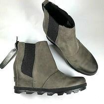 Sorel Women's Size 8.5 Joan of Arctic Wedge Ii Chelsea Bootie Boot Sage Gray Photo