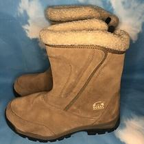 Sorel Women's Snow Waterfall Tan Suede Insulated Winter Boots Size 8.5 Photo