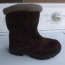 Sorel Women's Water Fall Brown Suede Winter Boot Size 6 Photo