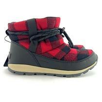 Sorel Women's Whitney Short Waterproof Red Dahlia Plaid 200g Winter Boots Sz 9 Photo