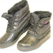 Sorel Womens 7 Vintage Rubber Shearling Mid Lace Up Canada Made Duck Boots  Photo
