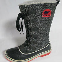 Sorel Womens Boots Winter Snow Navy Gray Size 9 Lace Up Unique Rare Find Photo