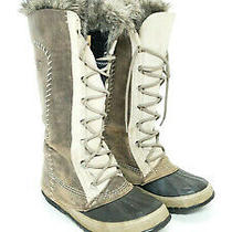 Sorel Womens Cate the Great Winter Snow Boots Insulated Waterproof Gray Size 8 Photo