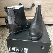 Sorel Womens Joan of Arctic Ii Black Wedge Chelsea Boots Shoes Sz 9.0 Photo