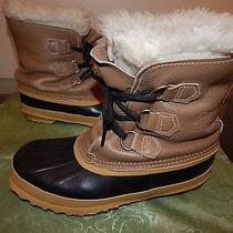 Sorel Womens Size 6 Winter Boots Color Tan Nice Condition Gently Used Photo