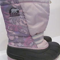 Sorel Womens  Sz 7 ( Euro 39)  Will Fit Sz 8 Pink/ Floral Cub Snow Winter Boots Photo