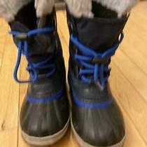 Sorel Yoot Pac Kids Size 2 Blue/black Waterproof Boots Photo