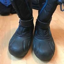 Sorel Youth Black Blue Snow Boot Size 2 Photo