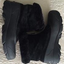 Sorel Zip Black Winter Suede Thinsulate Boots Snow Angel Size 9 Photo