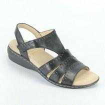 Soul Naturalizer Womens Beacon Strappy Sandal Black Leather Size 6 New Authentic Photo
