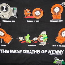 South Park Large Size T-Shirt Trey Parker Matt Stone Many Deaths of Kenny Tv Photo