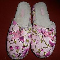 Spa Sister Pink Floral Slipper Shoes Polyester One Size Bath Accessories Co  Photo