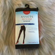 Spanx Assets Herringbone Pattern Tights Size 5 195-265 Lbs Tourmaline Brown Nip Photo