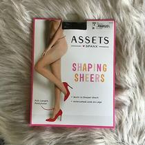 Spanx Assets Shaping Sheers Pantyhose Size 4 180-220 Lbs Black - Nip Photo