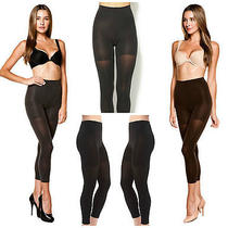 Spanx Black Footless Tight-End Tights Size a Retail 26.00 Photo