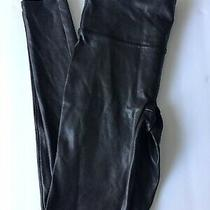 Spanx Faux Leather Leggings Black Size Reg Small New Photo
