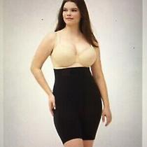 Spanx High Power High Waist Mid Thigh Panty Shaper  Black Size E Nwt 1x Photo
