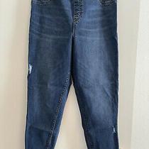 Spanx Jean-Ish Ankle Leggings Blue Denim Distress Women's Size Xl Jeans Photo