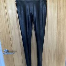 Spanx Leggings- Black Faux Leather Size S Photo