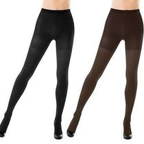 Spanx Reversible Tight-End Tights A226488 Size D Blk/bittersweet & Blk/charcoal Photo