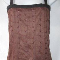 Sparkle & Fade Anthropologie Coco Brown Eyelet Cami Camisole Tank Top Shirt S Photo