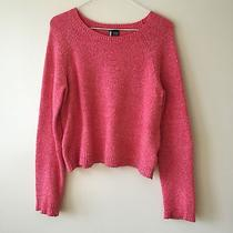 Sparkle & Fade Urban Outfitters Crop Sweater Pink Sz M Photo