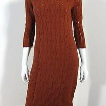 Sparrow Anthropologie Long Sleeve Cabled Sweater Dress Size S Brown Photo