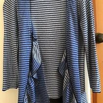 Sparrow Anthropologie Small S Striped Open 3/4 Sleeve Pergola Cardigan Sweater Photo