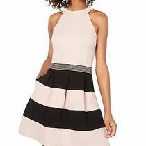 Speechless Dress Blush Pink Size Medium M Junior a-Line Colorblock 59 085 Photo