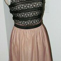 Speechless Dress Size Medium Black Lace Bodice  Blush Tulle Skirt Photo