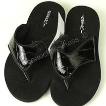 Speedo Women's Fun Sandal - Black Patent Croc - Size 7 Photo