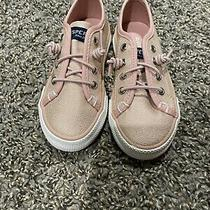 Sperry Top-Sider Seacoast Sneakers Girl's Toddler Size 8 Sparkly Blush Nwt Photo