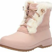 Sperry Women's Shoes Maritime Rebel Faux Fur Closed Toe Ankle Blush Size 7.5 G Photo