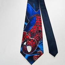 Spider-Man 100% Poly Tie Marvel Comics Movie Superhero Peter Parker Photo