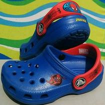 Spider-Man Crocs Boys Size 6/7 Great Shape Marvel Comics Summer Shoes Slip-Ons Photo