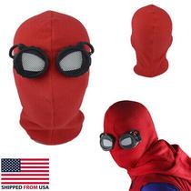 Spider Man Far From Home Mask Peter Parker Halloween Costume Mask Lenses Photo