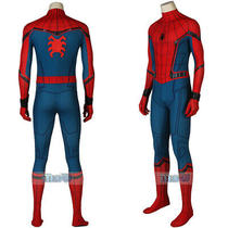 Spider-Man Far From Home  Peterparker Jumpsuit Cosplay Costume Halloween Outfit Photo