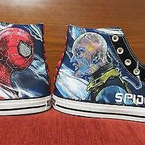 Spider-Man Hand Painted Vintage Converse Sneakers Shoes Custom Designed 88 Photo