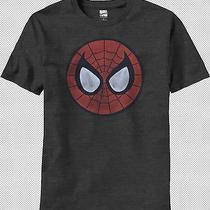 Spider-Man Pog Face Mask Logo Peter Parker Marvel Comics Adult Men T-Shirt Top L Photo