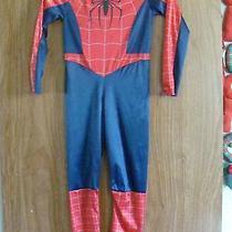 Spiderman Boys Marvel Comics Fantasy Play Jumpsuit Costume W Hooded Mask Photo