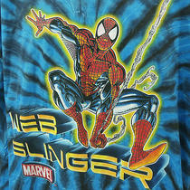 Spiderman Web Slinger 2xl Tshirt Marvel Peter Parker Tye Dye Hippie Extra Large Photo