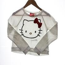 Spiffy Hello Kitty White Sweater Girls Size M (Ref E-467325108) Photo