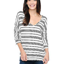 Splendid 78 Stockholm Stripe Dolman Black White New Shirt Top Size Medium M Photo