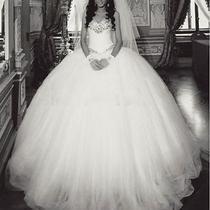 Splendid Ball Gown High End Tulle Strapless Handmade Wedding Dresses Custom Made Photo