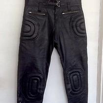 Splendid Black Leather Bike Pants Apparel Padded Zipper Excellent Condition Photo