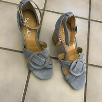 Splendid Block Heel Sandal in Light-Blue-Gray Size 8.5 Nwob Photo